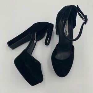 Steve Madden Womens Cordial Suede D'Orsay heel